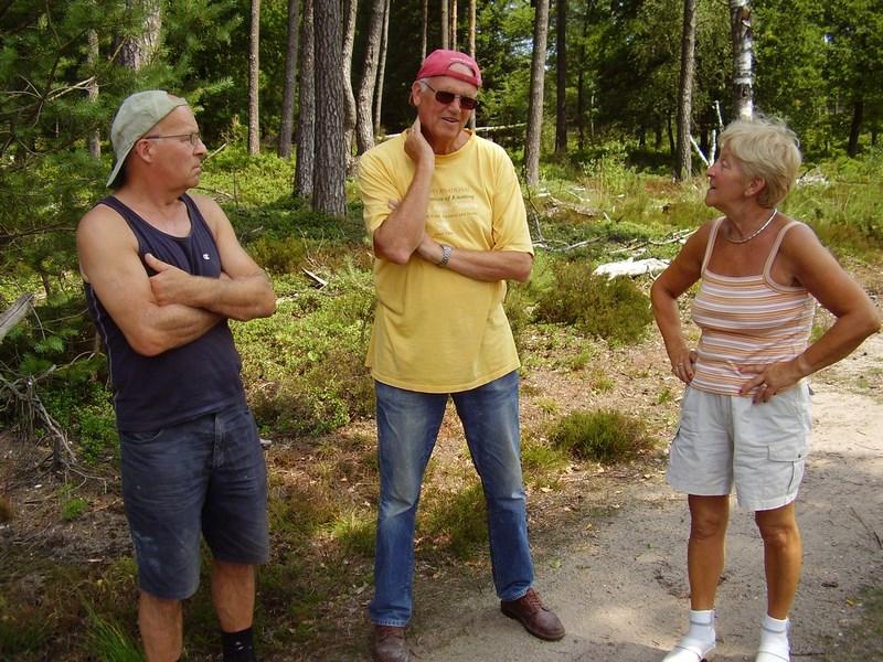 Van links naar rechts: Cees van Eijck, Harry Smit en Marianne van Eijck-Aarts