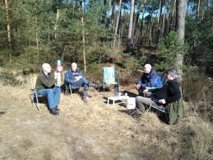 17 maart 2016 Van links naar rechts: Peter Menting, Cees van Eijck, Jaap van Eijck en Gerrit Middelbeek